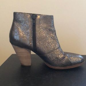 Aldo pewter ankle bootie